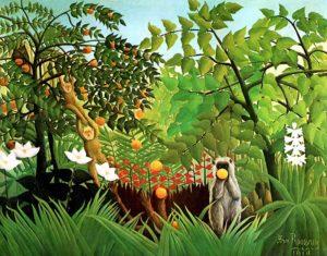 Tableau de Henri Rousseau dit le Douanier - Paysage exotique